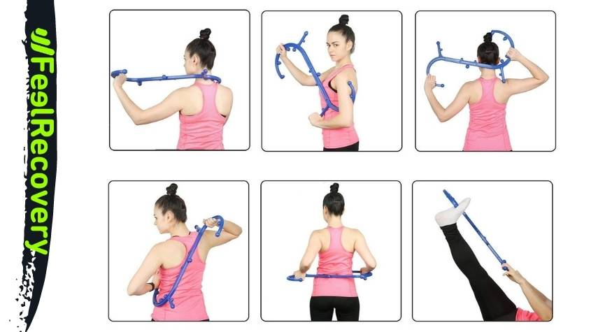 How to use the massager hook to relieve trigger point pain?