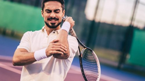 How do you use ice gel packs to help relieve tennis and golfers elbow pain?