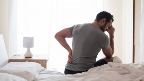 How do you use ice gel packs to help relieve sciatica pain?
