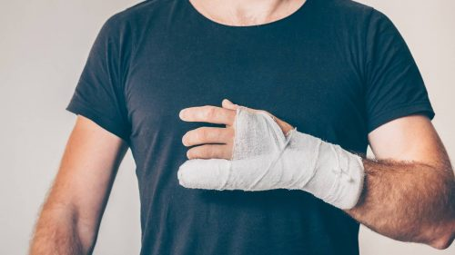 How do you use ice gel packs to help relieve bone fractures pain?