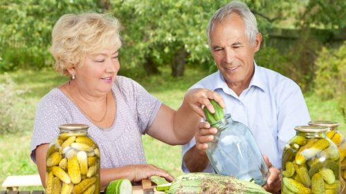 How do you use microwave wheat bags in elderly people with arthritis?
