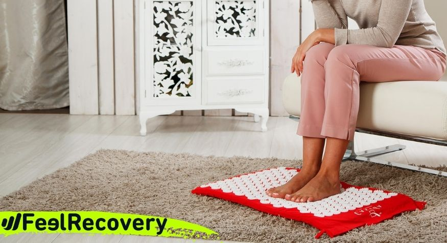 How to use the acupressure mat to relieve plantar fasciitis?