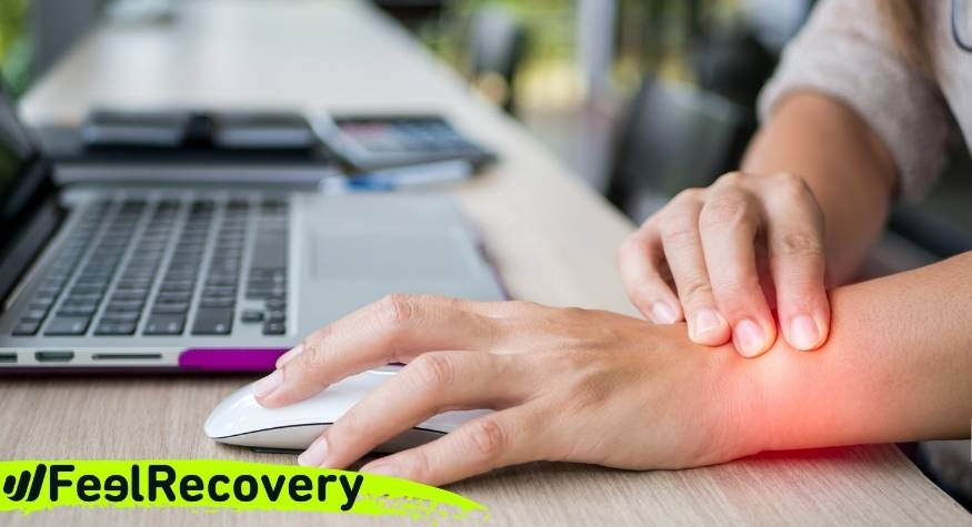 What are the causes and origin of hand and wrist pain from carpal tunnel syndrome?