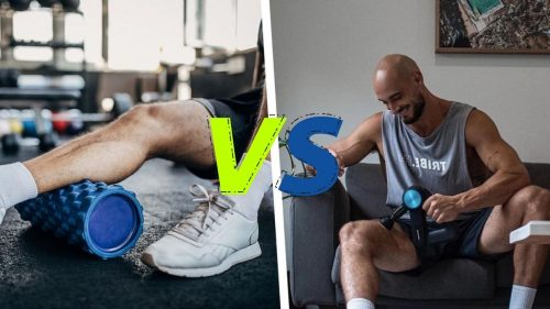 What are the differences between a muscle massager gun and a Foam Roller?