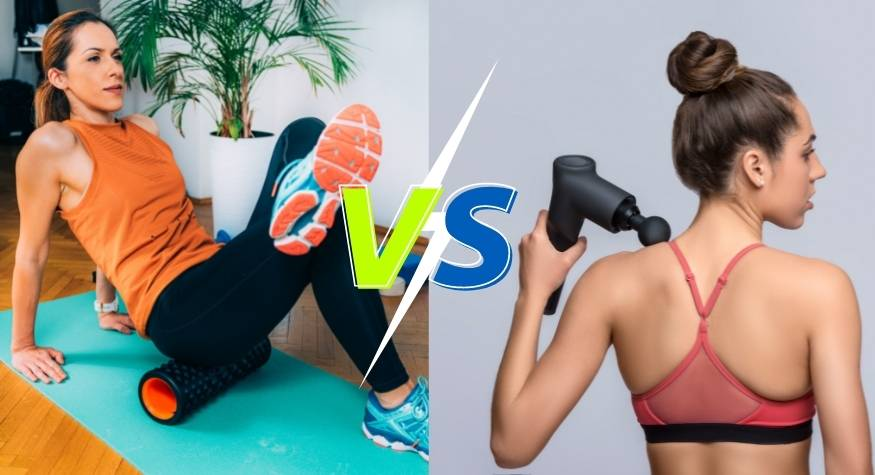 What are the main differences between a massage gun and a Foam Roller?