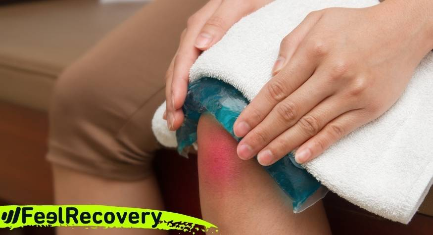 What are the advantages of applying cold to reduce pain after a post-surgical process?
