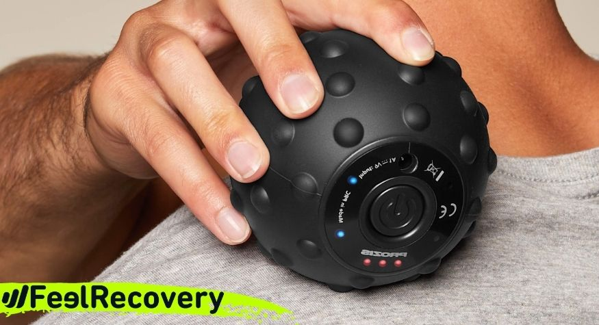 What are the main benefits of using electric vibrating massage balls?
