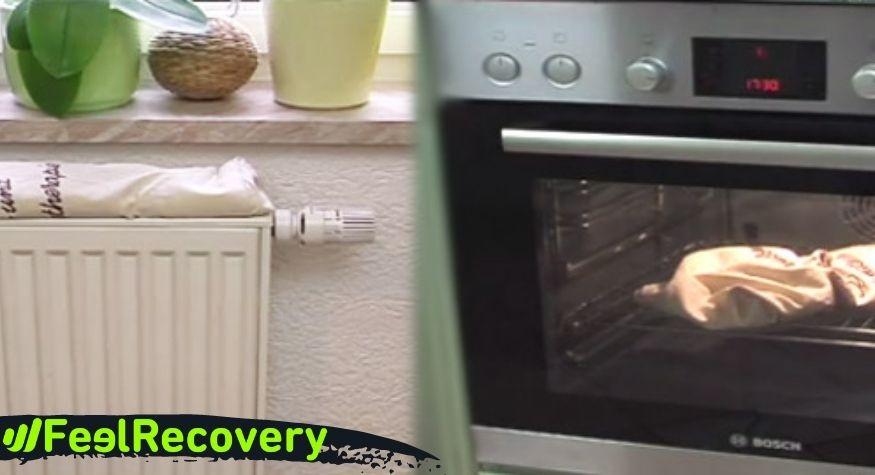 ¿Es posible calentar el cojín térmico de semillas en el horno o en el radiador?