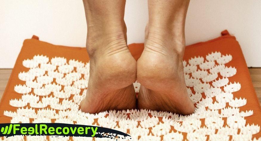 Acupressure mat for feet