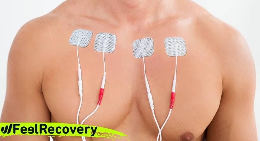 What is TENS electrostimulation used for and what are its uses in physiotherapy?