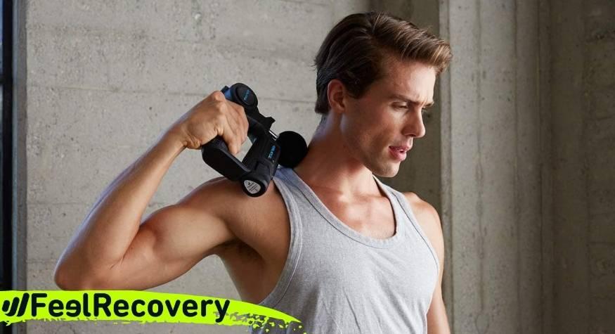 Muscle massage gun for neck