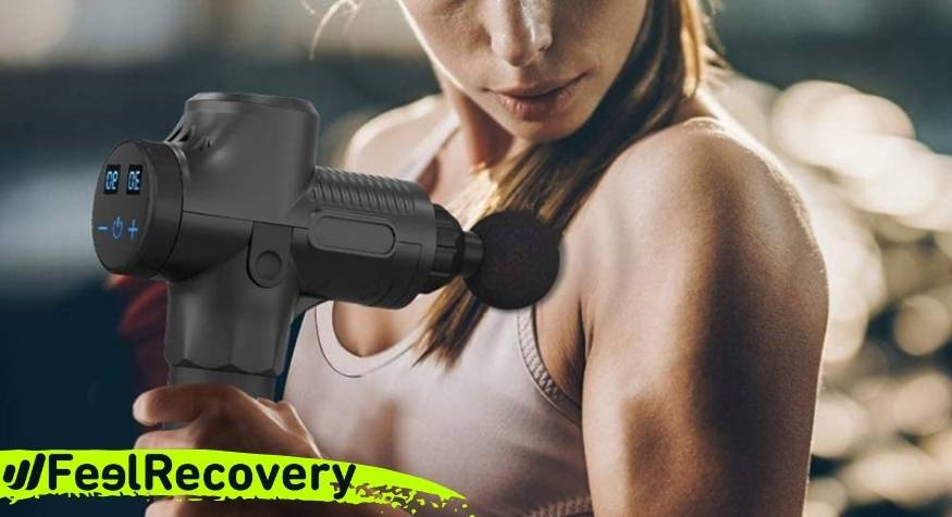 Muscle massage gun for arm and shoulder