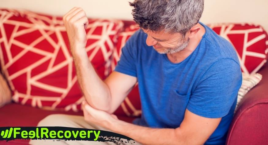 What is epicondylitis of the elbow and what are its symptoms?