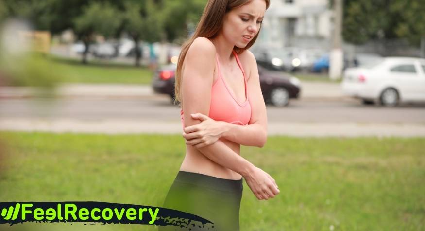 What is an elbow sprain and what are its symptoms?
