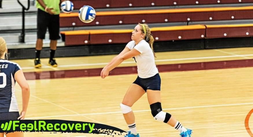 What type of knee braces and patellar straps are best for volleyball player injuries?
