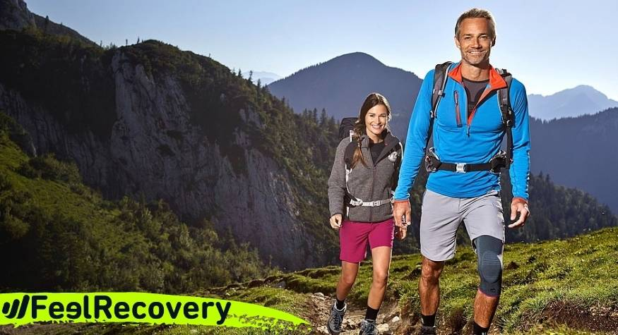 What type of knee braces and patellar straps are best for hiking or mountaineering injuries?